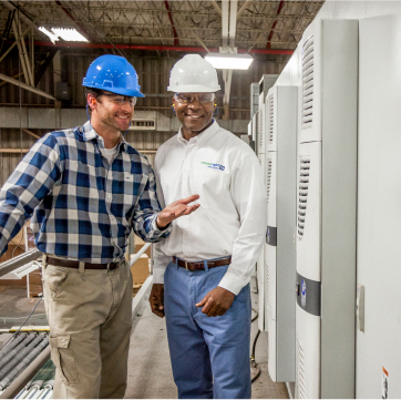 TVA employee talking with industrial client